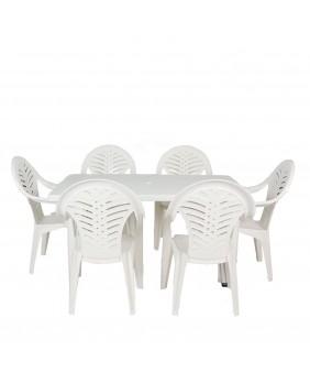 Conjunto/Set Resina Blanco Elegance 6 PLAZAS.
